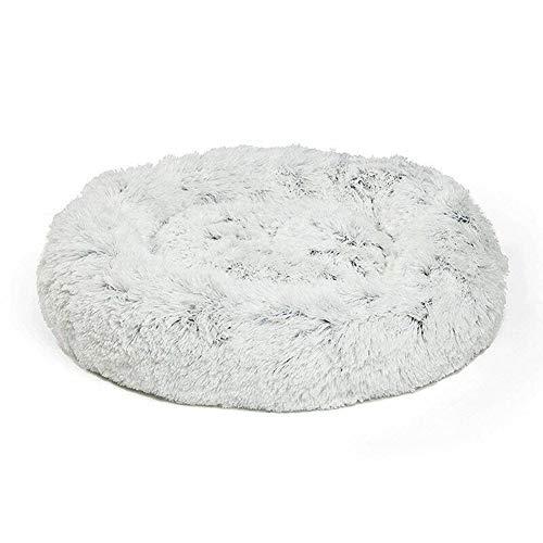 - Belegend Shag Faux Fur Donut Cuddler Cat Bed Warm Plush Dog Puppy Mat Pet Bed (60cm)