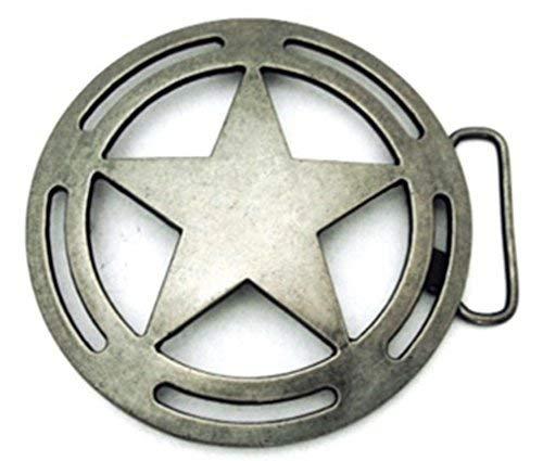 State Texas us Belt Buckle Lone Star Sheriff Badge Men Women Metal Cowboy Cowgirl Rodeo Western