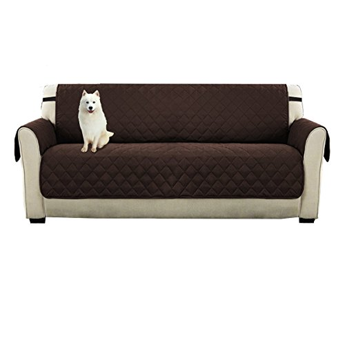 (DIFEN Sofa Covers, Slipcovers, Reversible Quilted Furniture Protector, Water Resistant,Improved Anti-Slip Couch Shield with Elastic Straps,Foams,Micro Fabric Pet Cover)