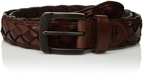 Levi's Men's 1.38 in. Handcrafted Leather Braid Belt, tan, (Braid Leather Belt)