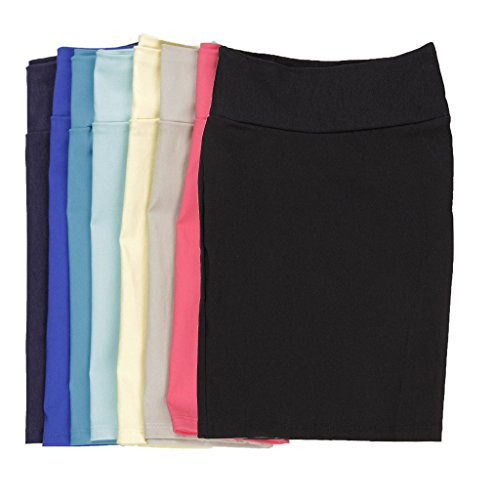CALDORE USA Girls 7-16 Pencil Skirt Stretchable Knee Length