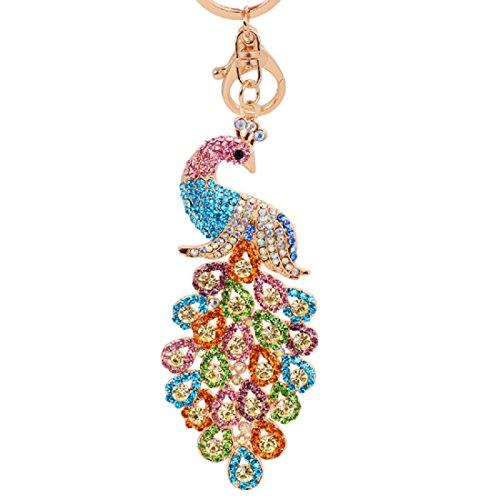 Wander Agio Womens Sweater Key Chain Fs Keychain Bag Key Ring Gift Peacock Colours