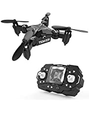 TENKER Mini RC Drone for Kids, Portable Pocket Quadcopter with Altitude Hold Mode, One-key Take-off & Landing, 3D Flips and Headless Mode, Easy to Fly for Beginners, Great Gift