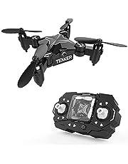 TENKER Skyracer Mini Helicóptero RC, Drone para niños, Quadcopter con modo de retención de altitud, Drone RC con giro en 3D, modo sin cabeza y una tecla de despegue / aterrizaje