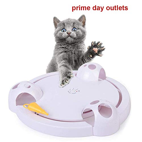Running Pet Cat Toy, Interactive Automatic Toy for Cat or Kitten, Adjustable Electronic Battery Operated Toy