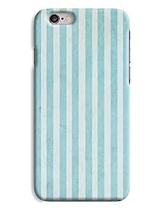 Retro Green Stripes 3D Printed Design iPhone 6 Plus Hard Case Protective Cover Shell