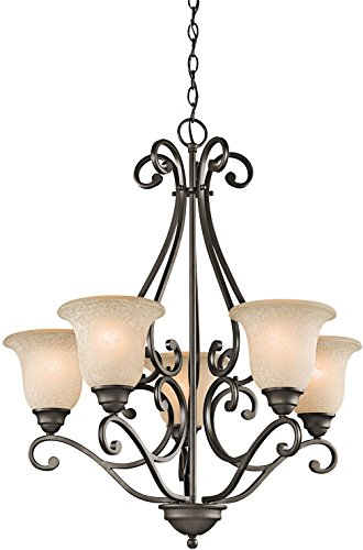 (Kichler 43224OZ Camerena Chandeliers Lighting, Olde Bronze 5-Light (27
