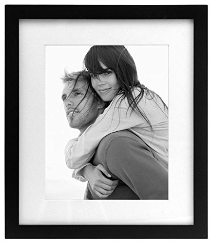 Malden 8x10 Matted / 11x13 Linear Wall - Black Picture Frame, Set of 2