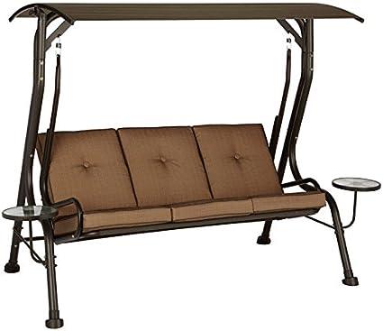 Amazon Com Swing W Canopy 3 Person Garden Outdoor