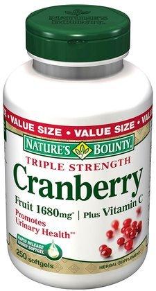 Cranberry générosité de la nature avec des fruits 4200mg / Vitamine C, 250 gélules