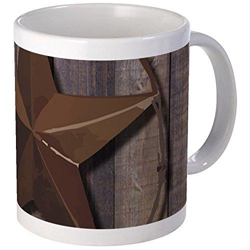 CafePress - Western Barnwood Texas Star Mugs - Unique Coffee Mug, Coffee ()