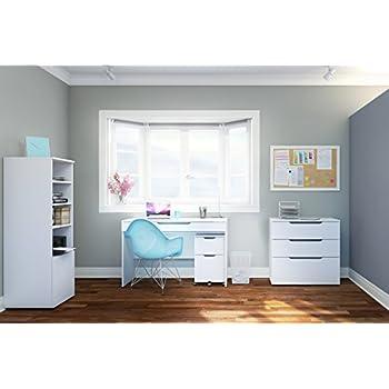 Arobas 600303 3-Drawer Filing Cabinet from Nexera, White