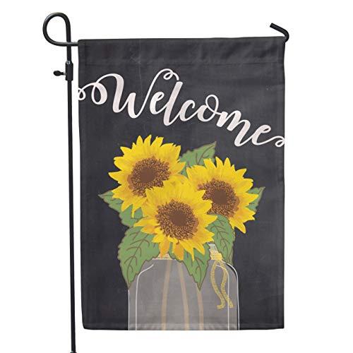 Sunflower Welcome Garden - Second East Sunflower Welcome Garden Flag Outdoor Patio Seasonal Holiday