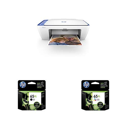 HP DeskJet 2655 All-in-One Compact Printer, HP Instant Ink & Amazon Dash Replenishment ready - Noble Blue(V1N01A) with XL High Yield Ink Cartridges Bundle -  Hewlett Packard Inkjet Printers