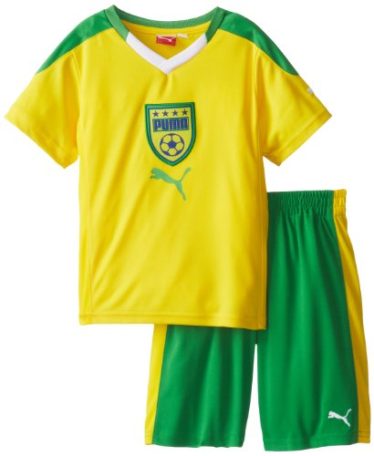 PUMA Little Boys' Toddler Country Perf Set-2, Cyber Yellow, 3T