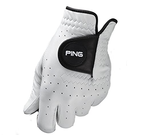 PING Tour White Solite Premium Cabretta Leather Golf Glove Mens Right Hand (for Left Handed Golfer) Medium