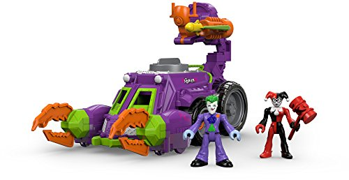Fisher-Price Imaginext DC Super Friends Streets of Gotham City The Joker & Harley Quinn Battle Vehicle
