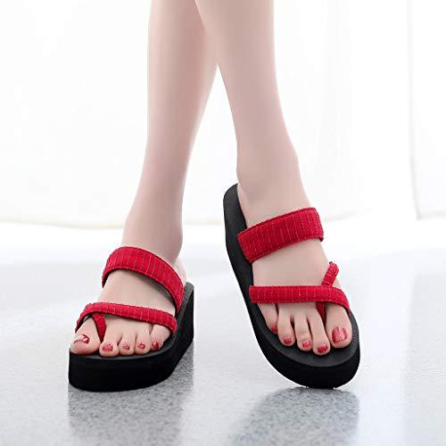YEZIJIN Hot Sale! Women's Slippers Fashion Non-Slip Wedge Clip-Toe Sandals Sequin Beach Shoes Slipper Heels Platform Flats Shoes for Women Ladies Girl Indoor Outdoor Clearance 2019 Best by YEZIJIN_Women's Sandals (Image #2)