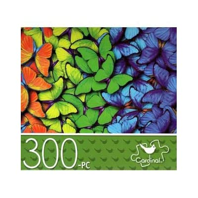 Pattern of Butterflies - 300 Piece Jigsaw Puzzle: Toys & Games