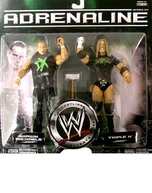 TRIPLE H and SHAWN MICHAELS - WWE Wrestling Adrenaline Series 24 2 Pack in DX Gear by Jakks by Jakks Pacific