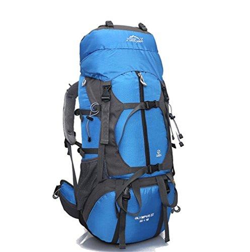 Wmshpeds Bolsa al aire libre para montañismo 65L mochila de gran capacidad para camping bolsa de viaje al aire libre mochila A