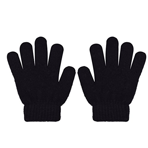 Kids Gloves Magic Knit Containing Cashmere Angora Gloves Solid Colors for Girls And Boys