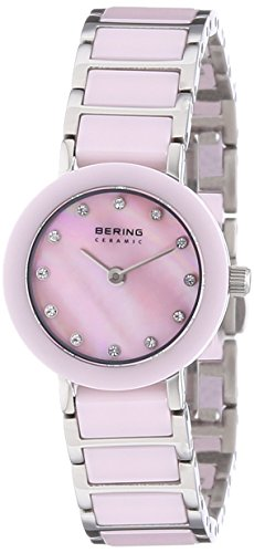 BERING Time 11422-999 Women Ceramic Collection Watch with Stainless-Steel Strap and Scratch Resistent Sapphire Crystal. Designed in Denmark ()