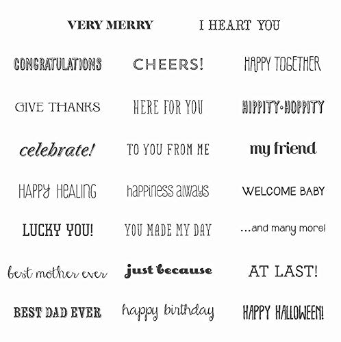ShopForAllYou Stamping & Embossing''and Many More'' - Clear-Mount Red Rubber Stamp Set