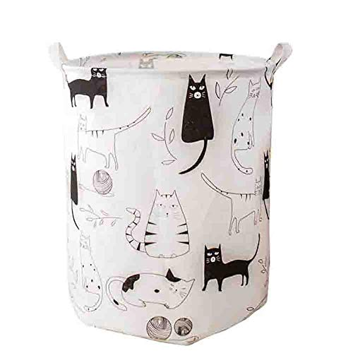 Cute Large Storage Basket Fabric Foldable Organize with Durable Cotton Handles Laundry Hamper for Toy Bins,Gift Baskets, Clothes,Baby Nursery 16