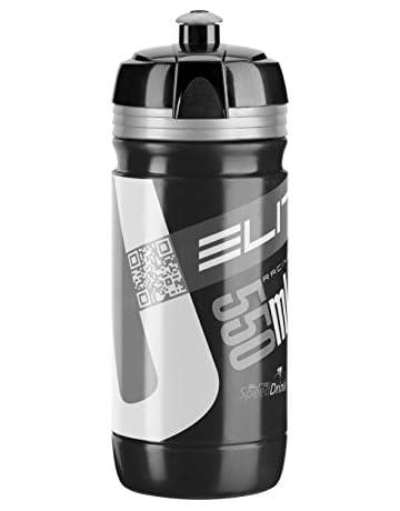 Elite Trinkflasche Corsa Bidón, Unisex Adulto, Negro/Gris, 550 ml ...