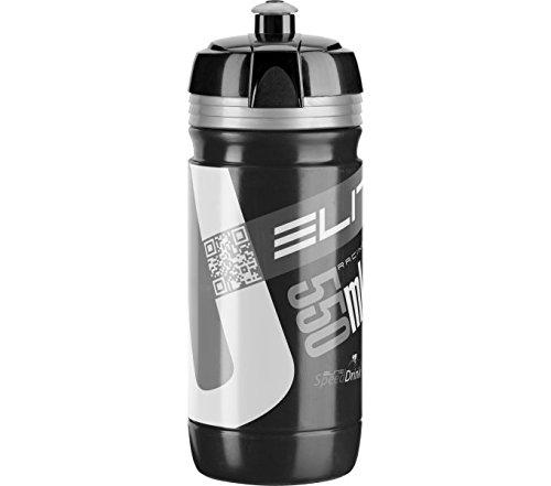 Elite 00914168 Corsa Water Bottle, 550ml, Black/Silver