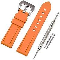 Vinband Cinturini Orologi Camuffare Orologi Bracciale in Caucciù - 22mm, 24mm, 26mm Gomma Cinturino Orologio Fibbia Dell'acciaio Inossidabile Spazzolato for Panerai