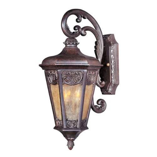 Colonial Umber Finish Chandeliers - Maxim 40173NSCU Lexington VX 2-Light Outdoor Wall Lantern, Colonial Umber Finish, Night Shade Glass, CA Incandescent Incandescent Bulb , 100W Max., Dry Safety Rating, Standard Dimmable, Fabric Shade Material, 3450 Rated Lumens