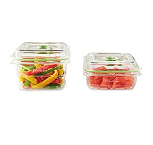 FoodSaver 3 & 5 Cup Fresh Vacuum Container Set, Clear