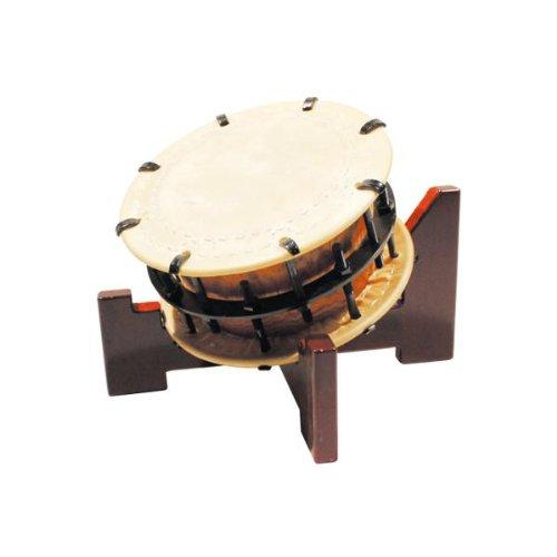 締太鼓30cm(ボルト締めあわせ胴) 木製座り台座セット   B00IP23D04