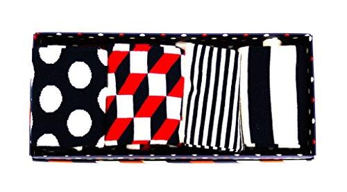 Happy Socks Stripe Gift Box Blue,Red,White 41-46