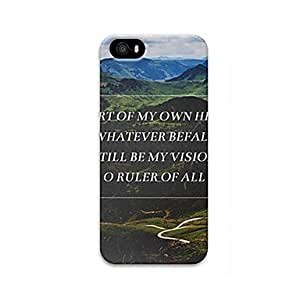YULIN Chain Of Mountains Pattern Design Plastic Hard Case for iPhone 6 Plus