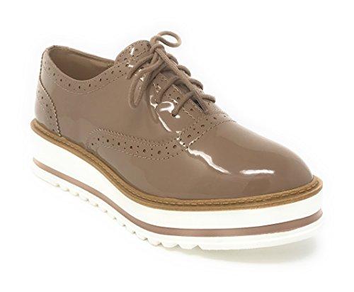 Fond Pat Blanc Soda Femmes Oxford Chaussures Pat Fond Naturelle energie ec060d