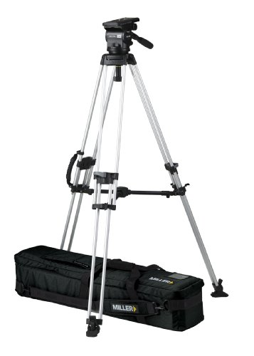 Miller 1718 Arrow 55 Tripod (Black/Silver) by Miller Camera Support LLC USA