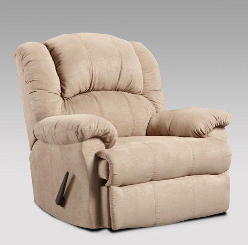 Chelsea Home Furniture Ambrose Chaise Rocker Recliner, Sensations Camel