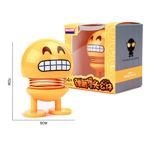 ZBZ Car Decoration,Shaking Smiley Doll,Spring Shaking Head Doll (Tooth Decay)
