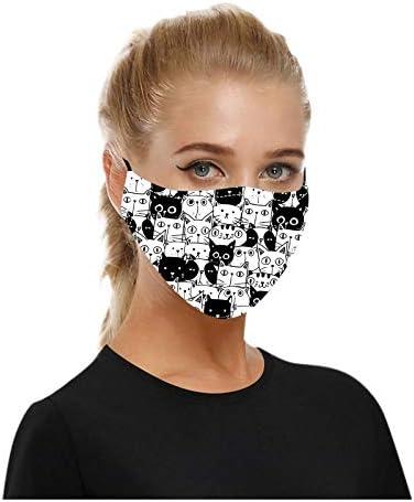 5PCS Fashion Face_mask Unisex Reusable Washable, Cat Print Breathable Facial Face_Masks for Coronàvịrụs Protectịon Outdoor,Adult Men Women Dustproof Face_Bandanas