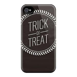 New Trick Or Treat Tpu Case Cover, Anti-scratch VxA9925VMET Phone Case For Iphone 4/4s