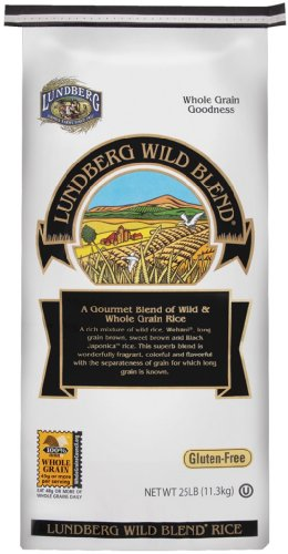 Lundberg Family Farms Organic Wild Blend Gourmet Brown Rice, 25-Pound
