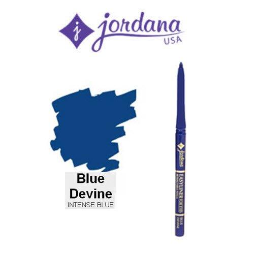 3 Pack Jordana Cosmetics Easyliner for Eyes 08 Blue Devine (Powder Blue Tint)