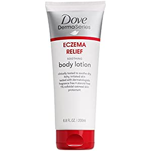 Dove DermaSeries Eczema Body Lotion, Soothing Itch Relief 6.8 oz
