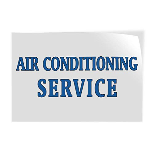 Air Conditioning Service #1 Vinyl Decal Sticke Store Sign 14.5 x 36 inches ()