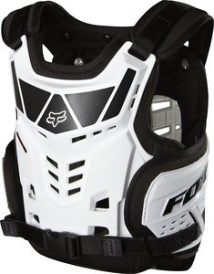 Fox Racing Youth ProFrame LC Raptor Protector - One size fits most/White