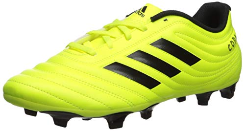 adidas Men's Copa 19.4 Firm Ground Soccer Shoe, Black/Solar Yellow, 10 M US