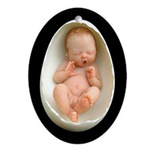 CafePress Aphira Egg Baby - Porcelain Keepsake Oval Holiday Christmas Ornament